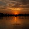パラグアイ川に沈む夕陽