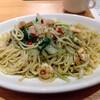 「亀よし食堂」でバジリコ大盛りスープセットを食べた感想。しっかりスパゲッティと大盛りしてたのが良かった…。メニューが度々変わりそうなのでマークしておくべき?