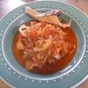 幸運な病のレシピ( 958 )昼:ガスパチョ風&ミネステローネ的トマトスープ、友人がガスパッチョで尿酸値を下げたと聞いたらトマトのスープを食べたくなった。