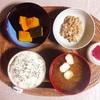 かぼちゃ煮、小粒納豆。