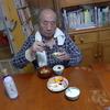 幸運な病のレシピ( 981 )朝:朝食作っている時に 父が来て立って小便始め、怒鳴ってしまった後悔、鮭、目玉焼き、キャベツ、汁(仕立て直し)