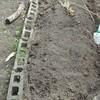 トマト,なすのため菜園床土の手入れ