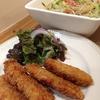 北海道でしか食べられない新鮮な生ホッケで「ホッケのフライ」と「春雨サラダ」で晩ごはん♡