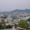 犬山城を水平視線で遠望