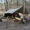 開拓キャンプの風景