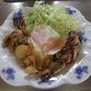 幸運な病のレシピ( 963 )朝:肉ジャガ(小丸新ジャガ)、紫蘇イワシテリテリ、目玉焼き、味噌汁