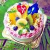 一歳のお誕生日オーダーケーキ*