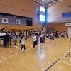 2年生:学習発表会の体育館練習