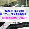 【株式】週間運用パフォーマンス&保有株一覧(2020.12.4時点)