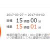 学習記録(2017/03/27 - 2017/04/02)