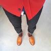 真っ赤なジャケットを早く着たいんだけど