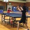 姉妹対決!の 鈴亀地区、中学校卓球大会 阿部杯