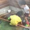 【砂場DIY】庭に砂場を作りました^^