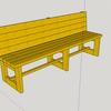 屋外用ベンチの製作(1) 構想検討、材料調達