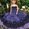 黒と紫のドレス