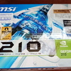 「GeForce 210」搭載のグラフィックボードが投げ売りされていたので捕獲してみました