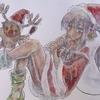 クリスマスイラスト、色ぬり企画(水彩はいいぞ!)