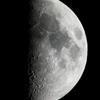 上弦の月(月齢8.153)