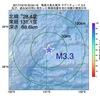 2017年10月19日 20時54分 奄美大島北東沖でM3.3の地震