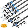 マグネット式 充電ケーブル 、L字型 USBケーブル、3in1 充電ケーブル、360度回転 (6本&ブラック)