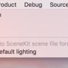 iOS で SceneKit を試す(Swift 3) その61 - Xcede の Scene Editor でのメニューバー