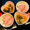 おうちごはん ローストビーフ丼・鶏野菜スープ