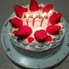 ケーキと折り紙、手作りの誕生日プレゼント。