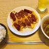 【男の飯】「卵餃子とレタススープ」