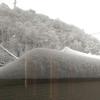 今シーズン初の雪かき
