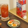 自家製チャーシューと味玉でトマトハイ!!  @家ごはん