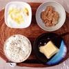 玉子豆腐、小粒納豆、バナナヨーグルト。
