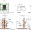 ファサード柱の外観図と各部詳細図