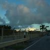 沖縄の空の色は美しい