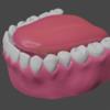 「身体のモデリング」その66 ~歯⑨~。【Blender #417】