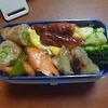 幸運な病のレシピ( 420 )朝:弁当セット、アスパラ肉巻きエビ醤油味、煮しめ