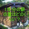 【薪ストーブ】1年分の薪の量はどのくらい必要か?