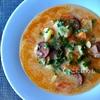 【ハンガリー料理】サワークリームとソーセージのじゃがいもスープ。作り方・レシピ。