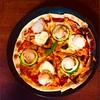 今夜はパパががコックさん③ホタテとズッキーニのピザ