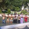 ドゥシャンベ観光の目玉「イスマーイール広場」と子どもたちと噴水でガチ泳ぎ