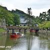 彦根城のお濠と屋形船
