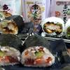 「根室花まる」の恵方巻きを予約してみたら絶品でした【真だちと大海老の天ぷら巻、海鮮恵方巻、ぶりカツ巻】