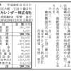 東京カレンダー株式会社 第12期決算公告 / 減資公告