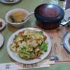 大島【喜龍飯店】Bセット(回鍋肉) ¥700+豚角煮(サービスチケット利用)