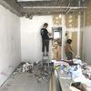 壁の下塗り