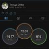 2021/9/2 テンポラン 12km、右足甲の痛みは・・・