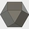Fusion360で、斜方立方八面体をモデリングする