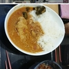 インドカレー、ミニたぬき蕎麦