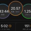 昨日のラン / 北海道マラソンエントリー