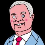 赤ら顔のかわいい弁護士 のイラスト