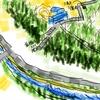 一等三角点「三鷹村」と国分寺崖線